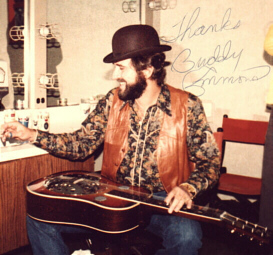 Buddy backstage at the Opry in 82